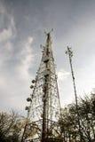 Palo de la telecomunicación/de la radio Imagen de archivo libre de regalías
