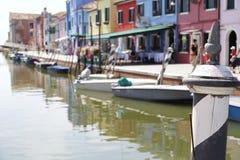 Palo decorato sull'isola di Burano, Italia Immagine Stock Libera da Diritti