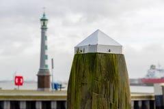 Palo del porto in Vlaardingen immagine stock libera da diritti