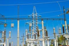 Palo del trasporto di energia Immagine Stock Libera da Diritti