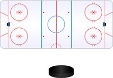 Palo dell'hockey Immagini Stock Libere da Diritti