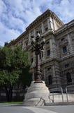 Palo della luce sul quadrato di Cavour a Roma Fotografia Stock
