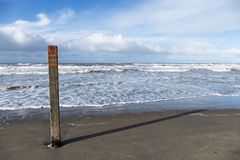 Palo della spiaggia Fotografia Stock