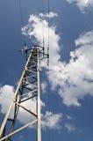 Palo di alta tensione di elettricità Fotografia Stock Libera da Diritti