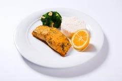 Palo di color salmone con l'aumento bollito Fotografia Stock Libera da Diritti