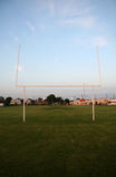 Palo di gioco del calcio Fotografie Stock