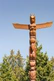 Palo di totem di Brown al punto di hallelujah a Vancouver immagine stock