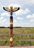 Palo di totem di Miccosukee Fotografia Stock