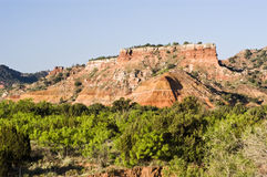 Palo Duro Canyon. Sandstone formations in Palo Duro Canyon State Park in Texas Royalty Free Stock Photo