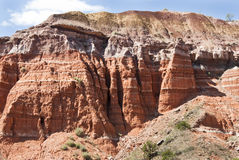 Palo Duro Canyon. Sandstone formations in Palo Duro Canyon State Park in Texas Stock Photography