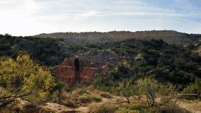 Palo Duro Canyon Cave en Tejas Imagen de archivo libre de regalías