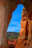 Palo Duro Canyon Cave View Stockbilder
