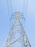 Palo elettrico ad alta tensione Fotografia Stock