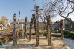 Palo-jangseung tradizionale coreano del totem di dicembre 6,2017 al museo piega nazionale Fotografia Stock Libera da Diritti