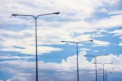 Palo leggero sul cielo Fotografia Stock Libera da Diritti