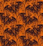 palo Modelo inconsútil Modelo negro del cordón Fondo anaranjado libre illustration