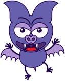 Palo púrpura en un humor muy enojado stock de ilustración