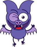 Palo púrpura que guiña entusiasta libre illustration