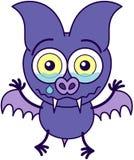 Palo púrpura que llora y que siente triste stock de ilustración