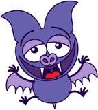 Palo púrpura que ríe animatedly stock de ilustración