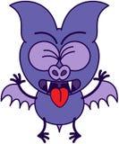 Palo púrpura que siente asqueado ilustración del vector