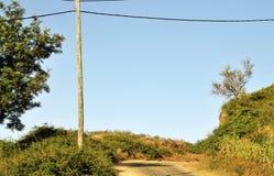 Palo pratico sopra la strada Fotografia Stock Libera da Diritti