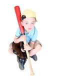 Palo preescolar joven de la explotación agrícola del muchacho Fotos de archivo
