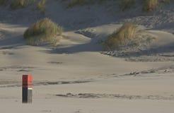 Palo quattordici vicino a Nes, isola di Ameland, Olanda Fotografia Stock