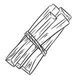 Palo Santo holy wood tree aroma sticks from Latin America. Smudge burning incense bundle vector illustration