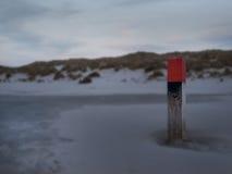 Palo sulla spiaggia Fotografia Stock Libera da Diritti