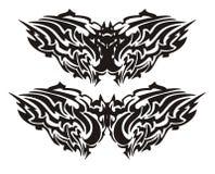 Palo tribal del vector bajo la forma de mariposa Imagen de archivo libre de regalías