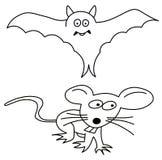Palo y ratón Fotografía de archivo