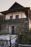 Paloc ethnographic hus i Holloko Arkivbilder