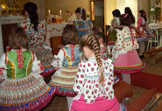 Paloc girls at Easter, Bujak, Hungary Stock Images