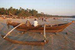 Palolem beach Goa. Fishing boat on Palolem beach in Goa Royalty Free Stock Image