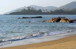 Palolem beach Goa India. Sea and send on Palolem beach Goa India Stock Photography