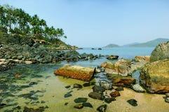 Palolem Beach lagoon, Goa royalty free stock image