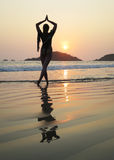 Palolem beach. South Goa, India Royalty Free Stock Photos