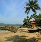 palolem för strandgoalagun Arkivfoton