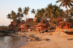 palolem goa пляжа стоковая фотография rf
