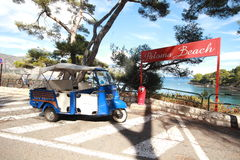 Paloma Beach in het Middellandse-Zeegebied, Nice, Frankrijk Stock Foto's