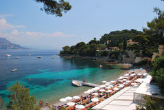 Paloma Beach Cap Ferrat Royalty Free Stock Image
