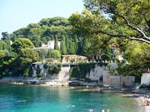 Paloma Beach in St. Jean Cap Ferrat, France. Paloma Beach in St. Jean Cap Ferrat, Azure Coast, France Stock Image