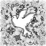 Paloma del garabato de la paz libre illustration