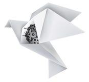 Paloma mecánica de la papiroflexia Imagen de archivo libre de regalías