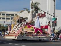 Paloma pacífica, flotador del premio de la reina en Rose Parade famosa Imagen de archivo