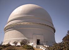 Palomar Observatory. This is a picture of Palomar Observatory with the famous Hale telescope. It is located atop Mt. Palomar in San Diego County administered by royalty free stock photography
