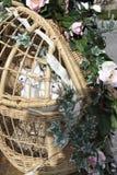 Palomas blancas de la boda Foto de archivo libre de regalías