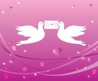 Palomas cariñosas Fotografía de archivo