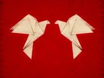 Palomas de la papiroflexia del Grunge Imagenes de archivo